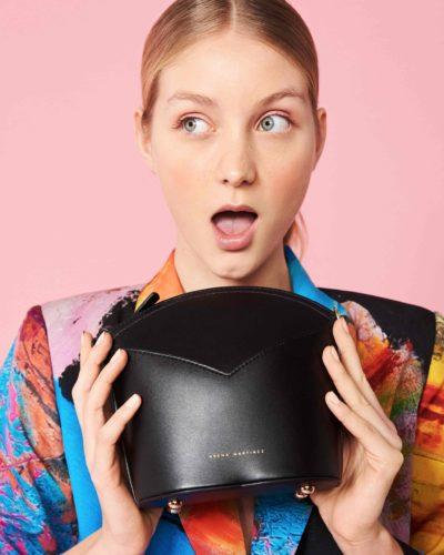 Bolso negro-Moda Española-diseño exclusivo-slow fashion-arena martinez