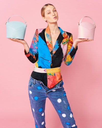 Exclusive Bags with Art - Arena Martinez - Baby Pink - Susi Bag - Model - 1