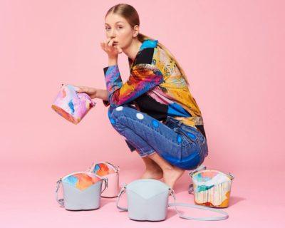Bolsos exclusivos de piel decorados con arte contemporáneo - Arena Martínez - Pink Candycruch Susi Bag - Modelo - 1