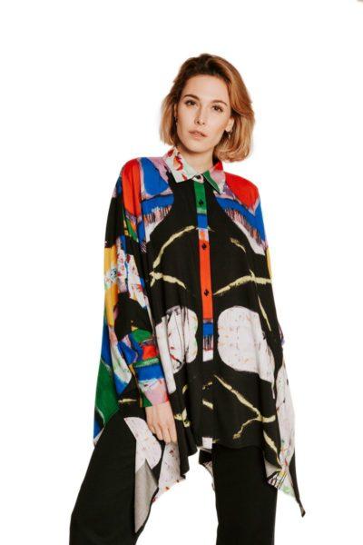 Slow Fashion made in Spain - Moda lenta por Arena Martínez - hecho a mano en España - Camisa Artsy - 1