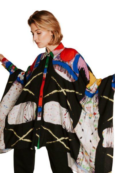 Slow Fashion made in Spain - Moda lenta por Arena Martínez - hecho a mano en España - Camisa Artsy - 9