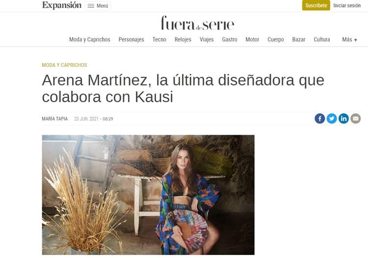 Slow fashion made in Spain - Arena Martínez -Expansión - Arena Martínez collaborates with Kausi