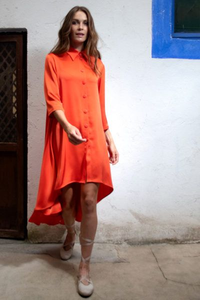 Slow fashion made in Spain - Arena Martínez - Alma Coral - Dress - 3