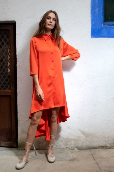 Slow fashion made in Spain - Arena Martínez - Alma Coral - Dress - 4