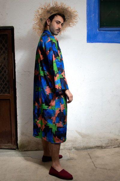 Moda lenta por Arena Martínez - hecha en España - Azzuro - Kimono - 7