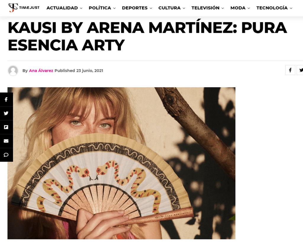 Slow fashion farbricada en España - Arena Martínez - Time Just - Arena Martínez collaborates with Kausi