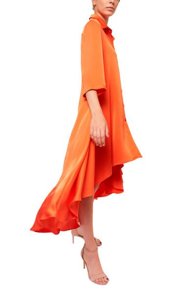 Slow fashion made in Spain - Arena Martínez - Alma Dress - Coral - 2