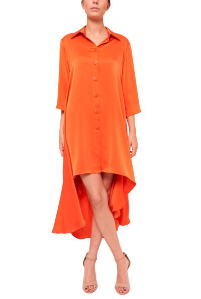 Slow fashion made in Spain - Arena Martínez - Alma Dress - Coral - 4