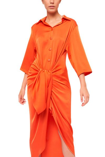 Slow fashion made in Spain - Arena Martínez - Alma Dress - Coral - 5